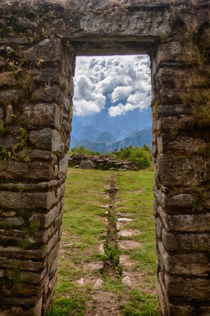 Doorway at Llactapata, Peru