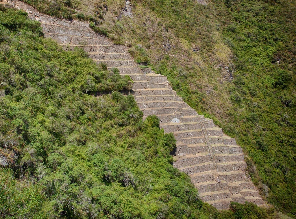 Llama terraces at Choquequirao, Peru