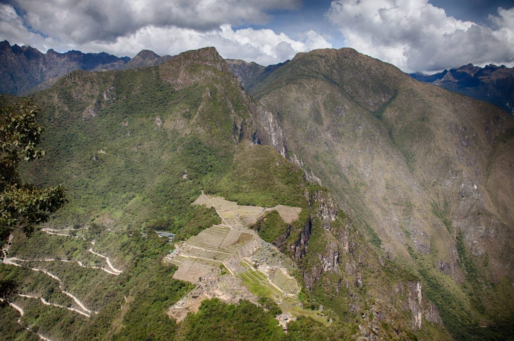 View of Machu PIcchu from Huayna PIcchu