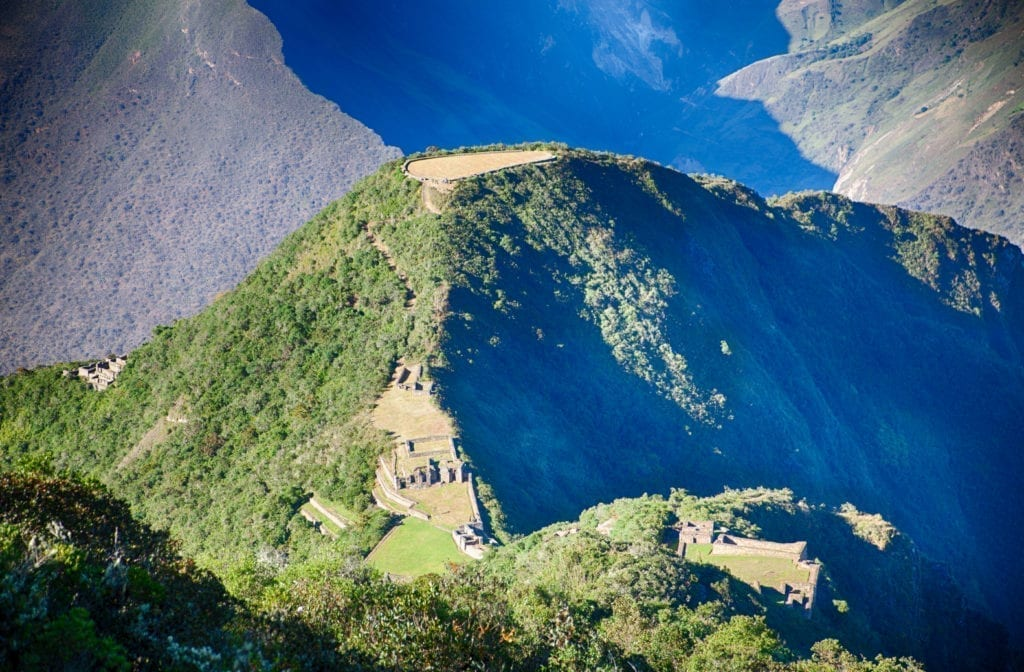View of Choquequirao from trail above