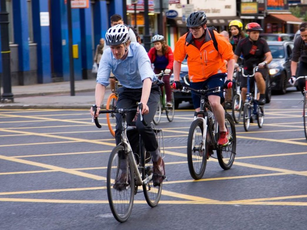 Commuters Cycling to Work
