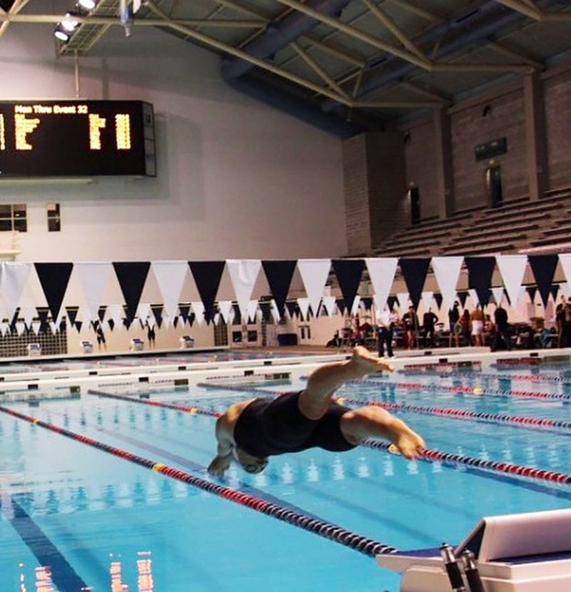 Katie Davidson diving into pool